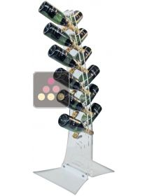 Free Standing display in Plexiglass for 12 champagne bottles SOBRIO