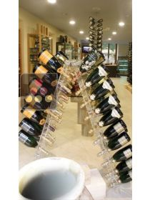 Free Standing display in Plexiglas for 120 champagne bottles SOBRIO