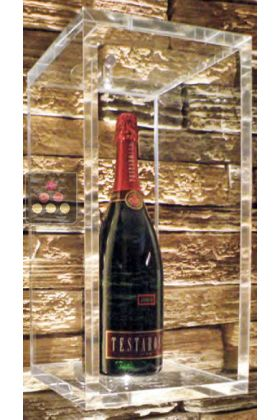 Wall Display Case For 1 Champagne Bottle Or A Classic