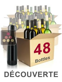 48 bottles of wine - Discovery Selection : white wines, red wines and Champagne Sélection Vin