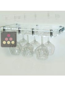 Wall Mounted Glass Rack in Clear Plexiglass - 6 glasses SOBRIO