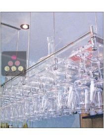 Wall Mounted Suspended Glass Rack in Clear Plexiglass - 50 glasses SOBRIO