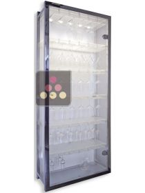 Clear Plexiglass Cupboard for 108 suspended glasses SOBRIO
