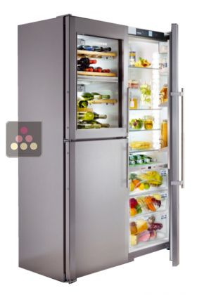 Combined wine cabinet, freezer, refrigerator & ice maker with ...