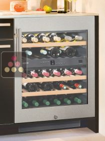 Wine cabinet for the storage and service of wine with 2 temperatures - can be fitted
