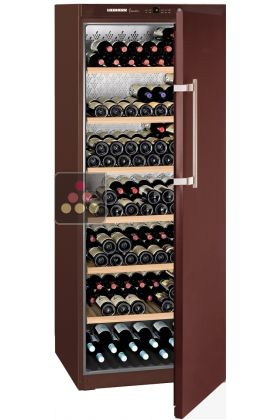 Single temperature wine ageing and service cabinet