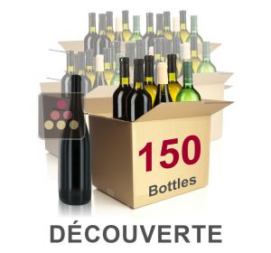 150 bottles of wine - Mathieu Vial Discovery Selection : white wines, red wines and Champagne Sélection Vin