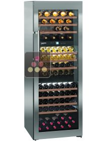 Wine cabinet for the storage and service of wine