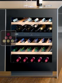 Dual temperature wine cabinet for storage and service - can be fitted