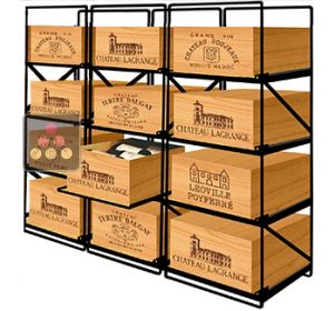 The only solution for storing 12 cases of wine and 144 bottles MODULORACK