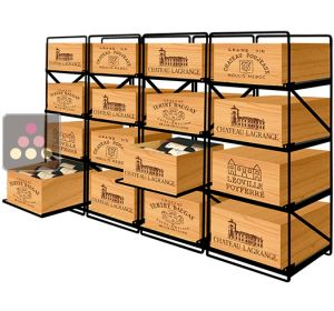 The only solution for storing 16 cases of wine and 192 bottles MODULORACK