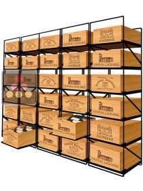 Sliding racks for 30 wooden cases of wine or 360 bottles MODULORACK