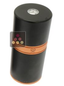 Black and copper round cigar tubes for 7 cigars Ma Cave à Cigares