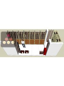 Cellar storage solution: 56 wooden boxes + 18 magnums + 1000 wine bottles + 450 champagne bottles + 14 special bottles VISIORACK