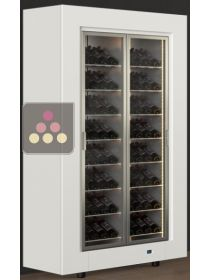 Freestanding multi-purpose wine cabinet for storage or service CALICE DESIGN