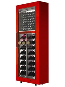 Combination of two modular freestanding multipurpose wine cabinets CALICE