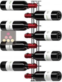 Horizontal wall rack for 8 x 75cl bottles VISIORACK