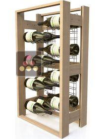 Wooden storage rack for 48 Magnum bottles VISIORACK