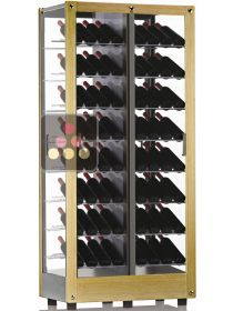 4-sided refrigerated display cabinet for wine storage or service CALICE