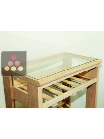 Upper glass unit for  Wooden storage Visiobois VISIORACK