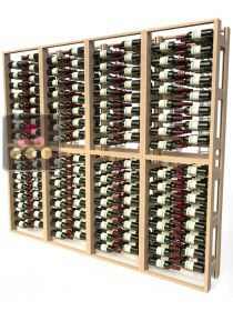 Wooden storage rack for 384 bottles VISIORACK