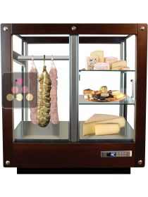 4-sided refrigerated display cabinet for storage or service of cheese and cold meat CALICE