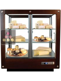 4-sided refrigerated display cabinet for storage or service of cheese CALICE