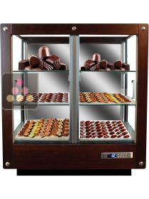 3-sided refrigerated display cabinet for chocolate storage CALICE
