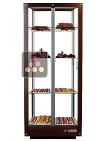 4-sided refrigerated display cabinet for chocolate storage CALICE