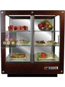 3-sided refrigerated display cabinet for fresh products and dishes  CALICE