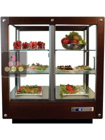 4-sided refrigerated display cabinet for fresh products and dishes  CALICE