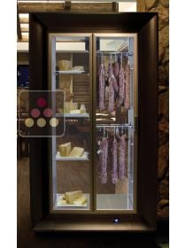 Refrigerated cheese and delicatessen cabinet for storage or service in an island unit CALICE DESIGN