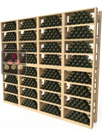 Wooden storage rack for 576 bottles VISIORACK