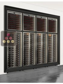 Combination of 8 built in modular multi purpose wine cabinets CALICE