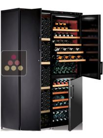 Combination of 3 single-temperature wine cabinets for ageing or service CALICE