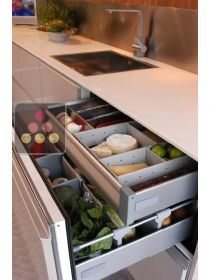 Built-in drawer fridge with customizable facade pannel NORCOOL