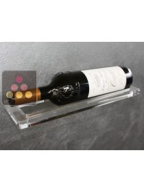 Wall Wine Rack in Plexiglass for 1 bottle ENOOFFICINA
