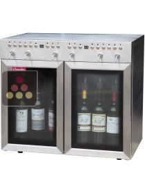 """By the glass"" Wine dispenser 2 Temperature zones for 6 bottles with Preservation System La SOMMELIERE"