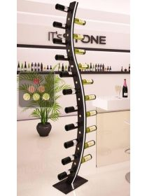 Stone and wood bottle display unit IT'S STONE