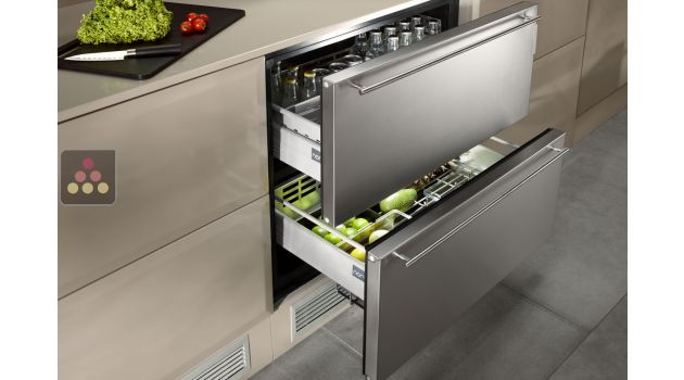 drawer fridge with stainless steel front norcool aci. Black Bedroom Furniture Sets. Home Design Ideas