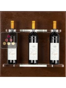 Wall Wine Rack in Plexiglass for 3 bottles ENOOFFICINA