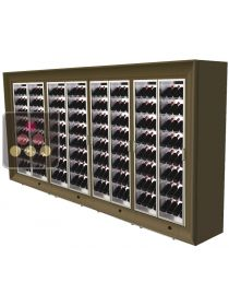 Combination of four freestanding modular multi purpose wine cabinets CALICE