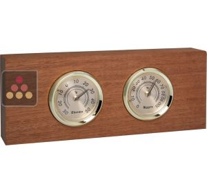 Thermometer / Hygrometer on a wooden mount Ma Cave à Vin