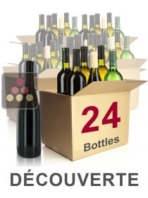 24 bottles of wine - Discovery Selection : white wines, red wines and Champagne Sélection Vin