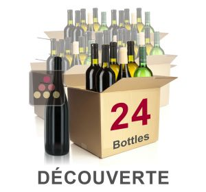 24 bottles of wine - Mathieu Vial Discovery Selection : white wines, red wines and Champagne Sélection Vin