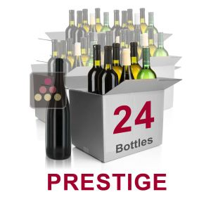24 bottles of wine - Mathieu Vial Selection Prestige : white wines, red wines and Champagne Sélection Vin