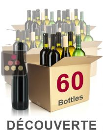 60 bottles of wine - Discovery Selection : white wines, red wines and Champagne Sélection Vin