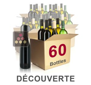 60 bottles of wine - Mathieu Vial Discovery Selection : white wines, red wines and Champagne Sélection Vin