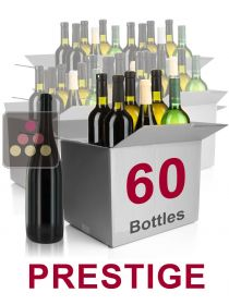60 bottles of wine - Selection Prestige : white wines, red wines and Champagne Sélection Vin