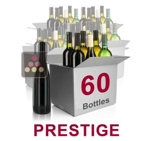 60 bottles of wine - Mathieu Vial Selection Prestige : white wines, red wines and Champagne Sélection Vin